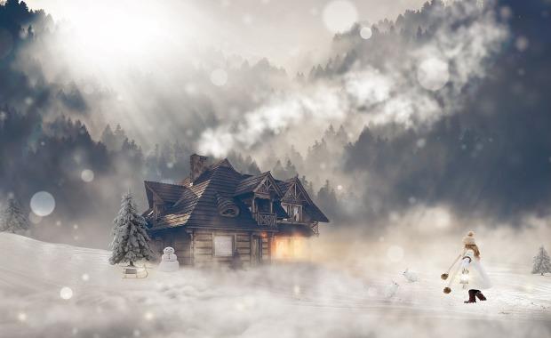 maison hiver