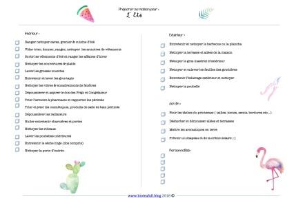 checklist preparer sa maison ETE format A5 bioteafull blog